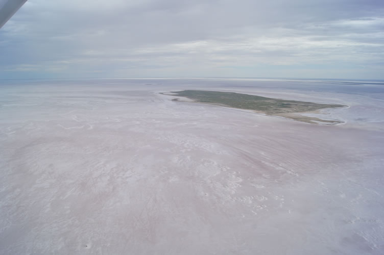13. Drying lake around Brooks Isl and Ibis Isl Kati Thanda-Lake Eyre North 21 Jan 2016