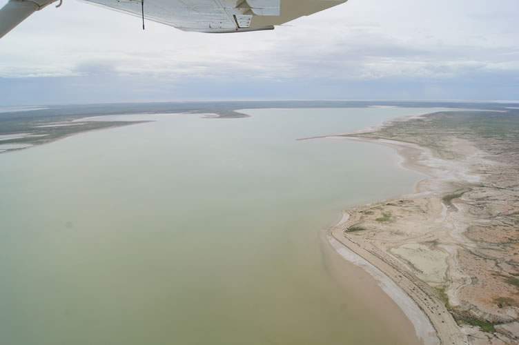 9. Looking down bottom of Belt Bay Kati Thanda-Lake Eyre North 21 Jan 2016